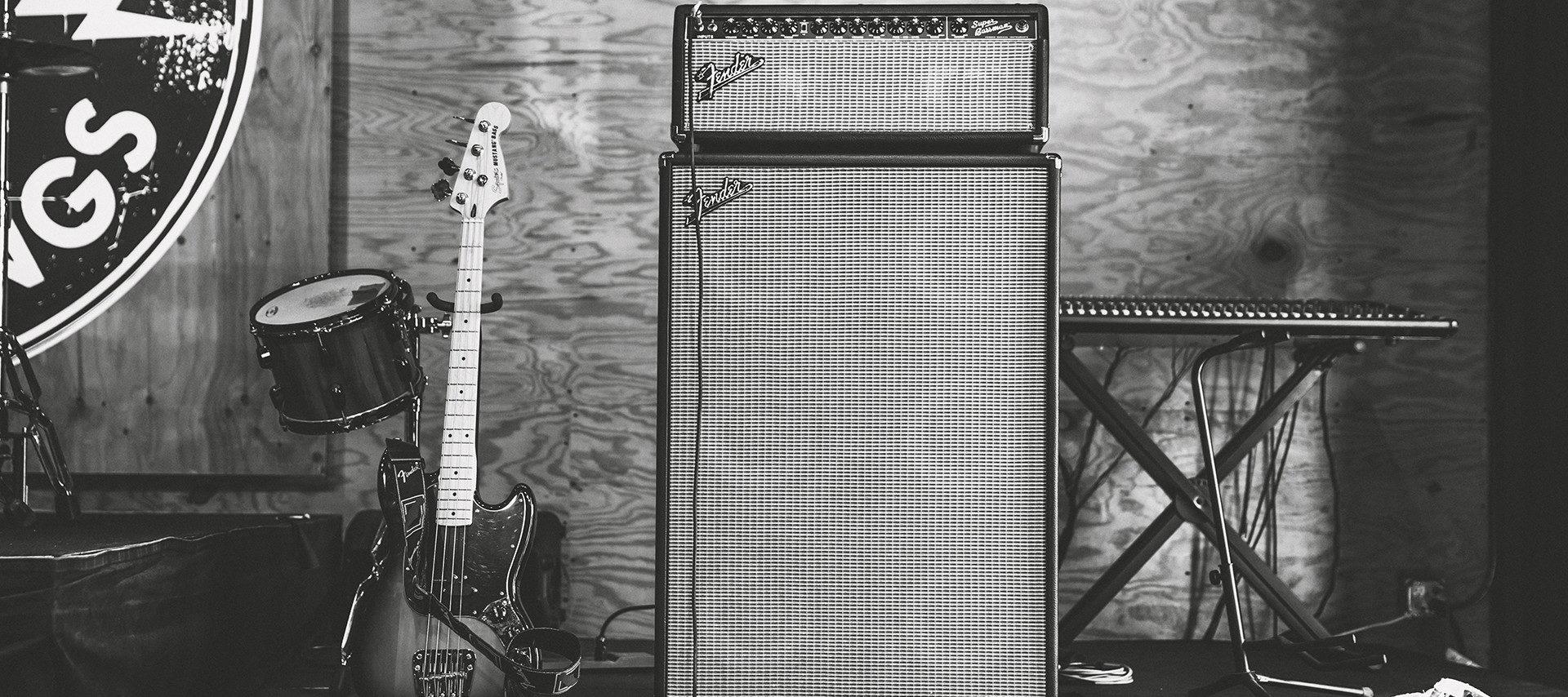 gitar og forsterker