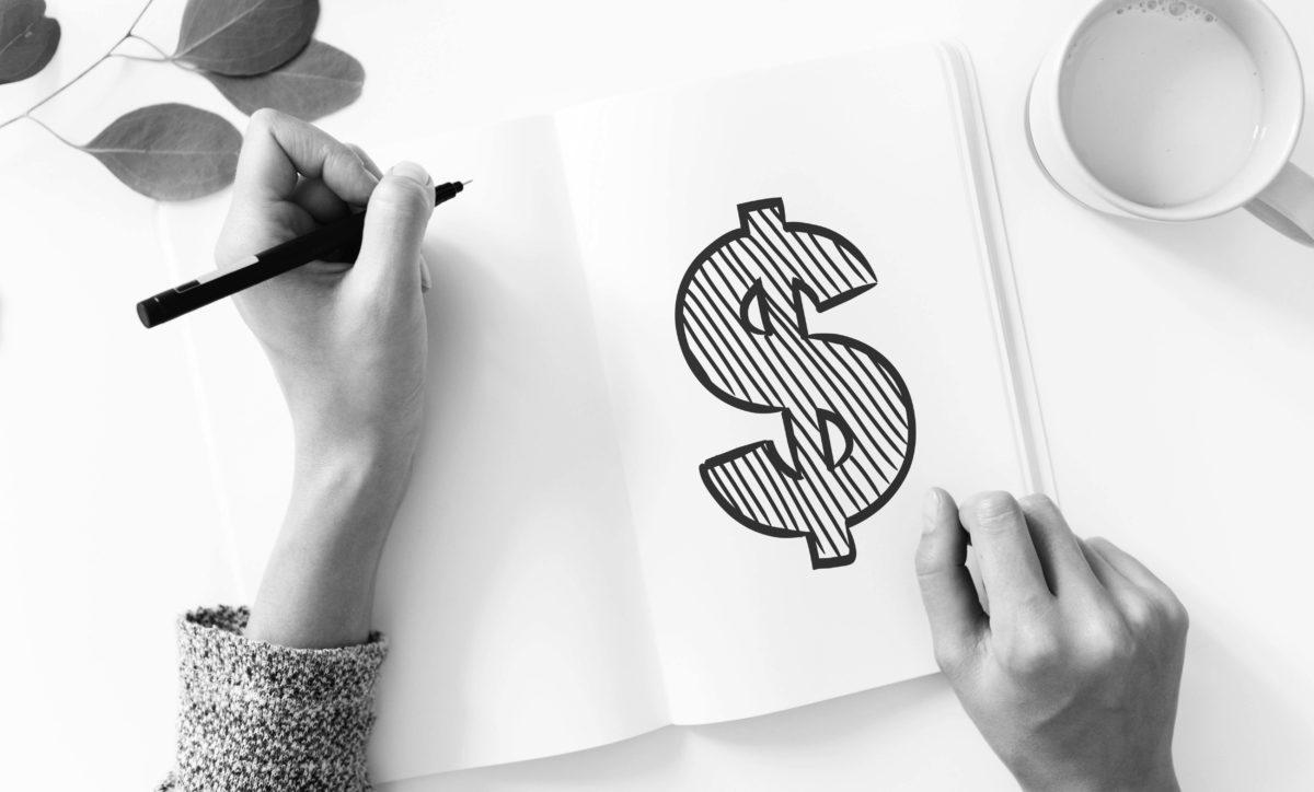 Bok med dollartegn